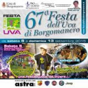 FESTA DELL'UVA A BORGOMANERO: IL PROGRAMMA COMPLETO